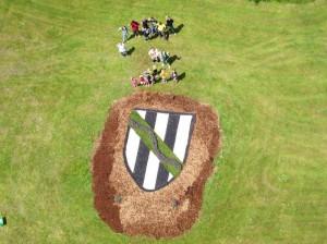 Langewieser Wappen im Dorfpark