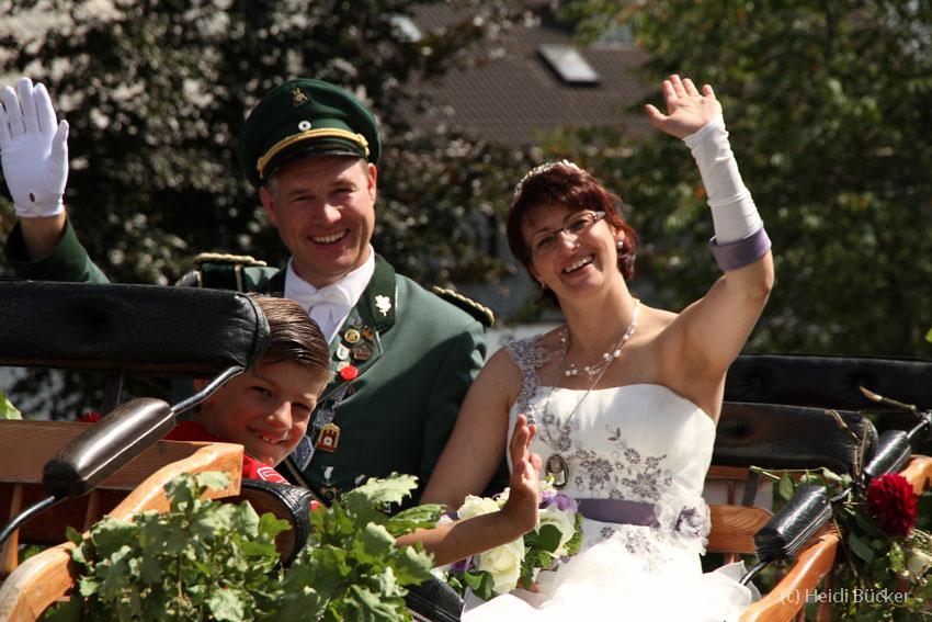 Königspaar Alexander und Katrin Vonnahme